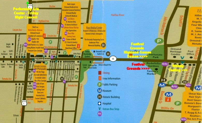 Map Of Ormond Beach Florida.2019 Ormond Beach Florida Celtic Festival April 13th 14th 2019